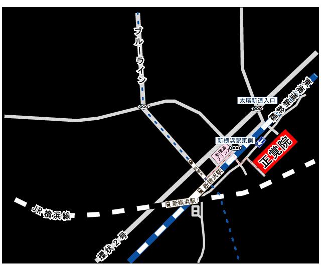 正覚院アクセス地図